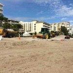 Extensive Construction On Beach