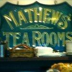 Mathews' Tea Rooms Sign!