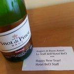 Capodanno al bel 3: bottiglietta di spumante in camera offerta dallo staff!