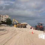 beach construction in front of Beachcomber