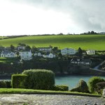 View of Portmellon from road leading to Mevagissey