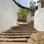 Steps to the tombs.