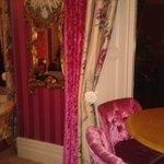 Beautiful curtains in bar