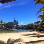 The blissfully warm lagoon ...