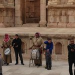 Small music performance in Jerash