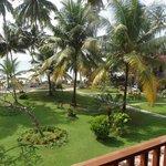 View across gardens to Ocean from balcony