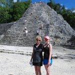 My girls at the ruins
