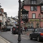 Old town Bad Homburg.  Market is directly to the right of the car.
