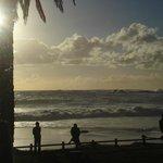 Clifton Beach ao entardecer
