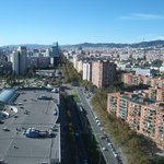 The view from the Elevator along Avenida Diagonal - you can see the Sagrada Familia
