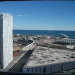 View from our room on the 21st floor towards the ocean