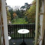 vue de la chambre depuis le balcon