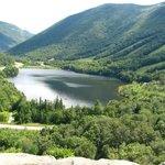 echo lake from artists bluff