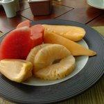 fresh fruits every morning.