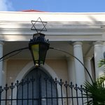 Over the entrance to the Synagogue