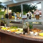 Breakfast buffet on top floor