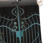 Art Nouveau wroght iron gate