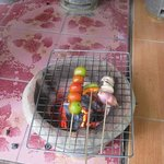 grill the ingredients before mashing them