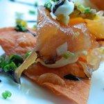 Chef Bruce Auden's salmon nachos