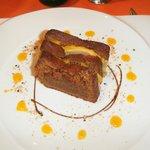 millefeuille foie gras pain d'épice chutney de mangue