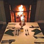 Abendessen am Kamin