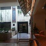Artistic lobby area