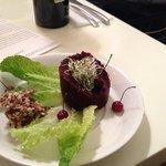 Raw beetroot  and Jerusalem artichoke pate