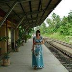 ж.д. станция Индурувы-напротив отеля