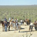 gita a cavallo con pranzo nel deserto