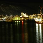 View of Tromso harbour from room