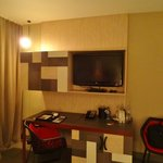Room 221 (desk and television)