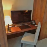 Desk and television