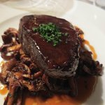 Fillet of Normandy beef with its jus, pan-fried girolles was perfect