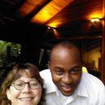 Me and Harold, one of the waiters at Pico Bonito Lodge