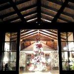 Holiday trimmings at the main lodge