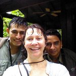 Ezdras, me and Sandro after our wet walk on the loop trail