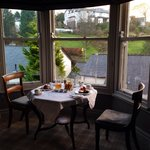 Delicious breakfast served in our room with beautiful countryside view outside (Room 6- Shute).