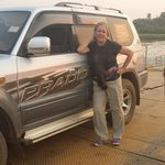 Car ferry to cross the Victoria Nile to reach Paraa Lodge