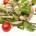Feldsalat mit Austernpilze