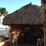 Entertainment hut in front of office & tiki bar