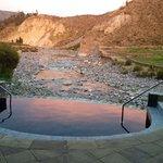 Natural hot spring water pool at the spa