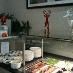 Buffet du dimanche, les entrées froides, ambiance de Noël