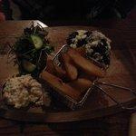 feta and mushroom burger (without the bun)