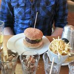 "Classic Beef ""beef, house mayo, relish, salad"", small skinny fries"