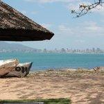 vista de Itapema,do bar da praia.