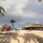 Rainbow picture from the beach in front of the Riu Aruba