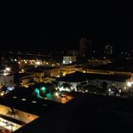 Downtown at night-rooftop view!