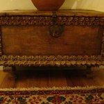 Antique chest in bathroom
