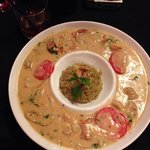 Grilled shrimp with coconut sauce. Yummy!!!!