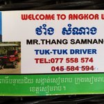 Call this guy if you want a trustworthy tuk tuk driver that won't rip you off. Seriously.